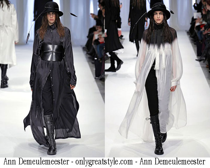 Ann Demeulemeester Fall Winter Womens Wear Collection Fashion
