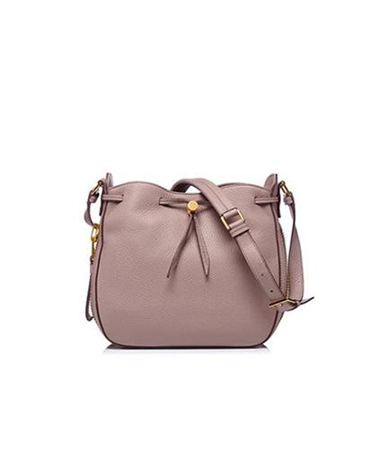 Original TOM FORD Womens Suede DoubleTassel Medium Bucket Bag Dark Brown