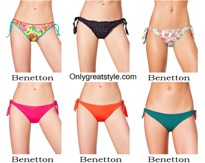 Swimwear Benetton summer 2017 swimsuits bikini