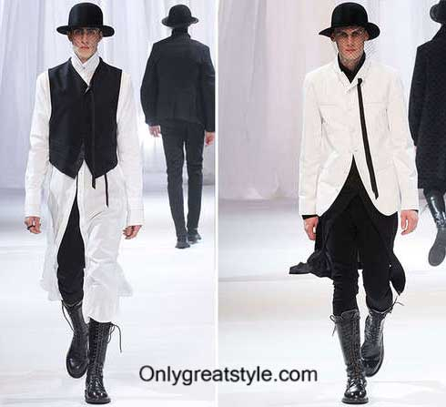Fashion show Ann Demeulemeester fall winter mens wear