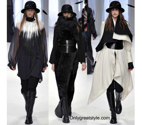 Fashion show Ann Demeulemeester fall winter womens wear