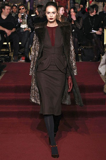 Zac Posen Fall Winter Fashion Clothing Women Look 10