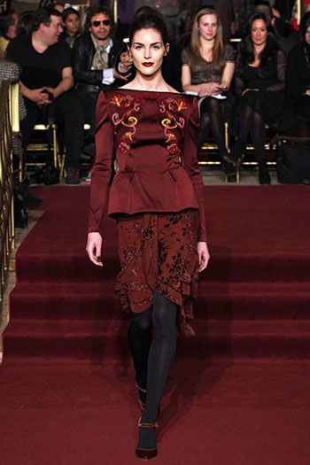 Zac Posen Fall Winter Fashion Clothing Women Look 2