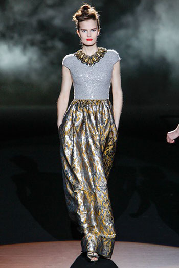 Badgley Mischka Fall Winter Fashion Women Look 12