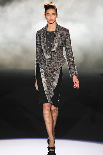 Badgley Mischka Fall Winter Fashion Women Look 13