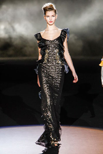 Badgley Mischka Fall Winter Fashion Women Look 15