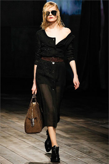 Lifestyle Prada fall winter womens wear fashion look 11