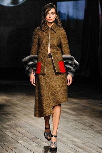 Lifestyle Prada fall winter womens wear fashion look 14