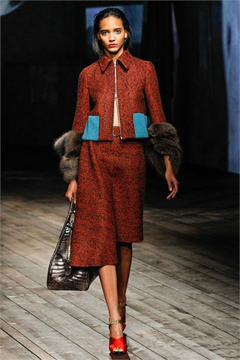 Lifestyle Prada fall winter womens wear fashion look 15