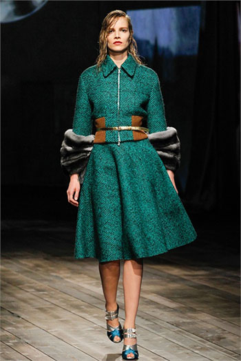Lifestyle Prada fall winter womens wear fashion look 16