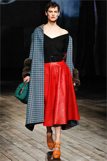 Lifestyle Prada fall winter womens wear fashion look 17