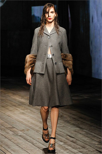 Lifestyle Prada fall winter womens wear fashion look 6