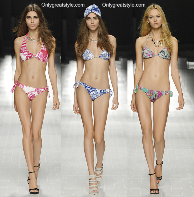 Fashion trends bikinis Blumarine 2014 womenswear