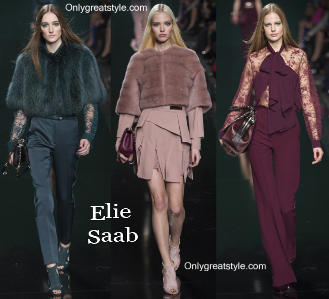 Clothing accessories Elie Saab fall winter 2014 2015