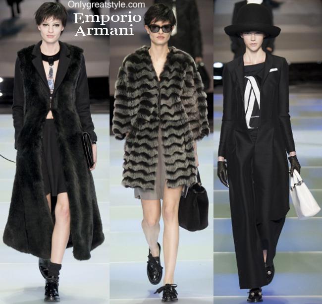 Clothing accessories Emporio Armani fall winter 2014 2015