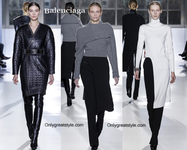 Fashion show dresses Balenciaga fall winter 2014 2015