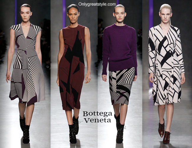Fashion show dresses Bottega Veneta fall winter 2014 2015