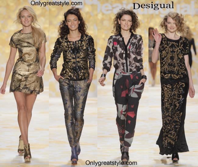 Fashion show dresses Desigual fall winter 2014 2015