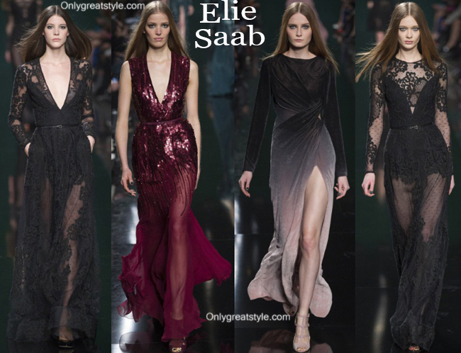Fashion show dresses Elie Saab fall winter 2014 2015