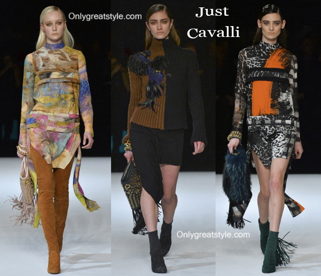 Fashion show dresses Just Cavalli fall winter 2014 2015