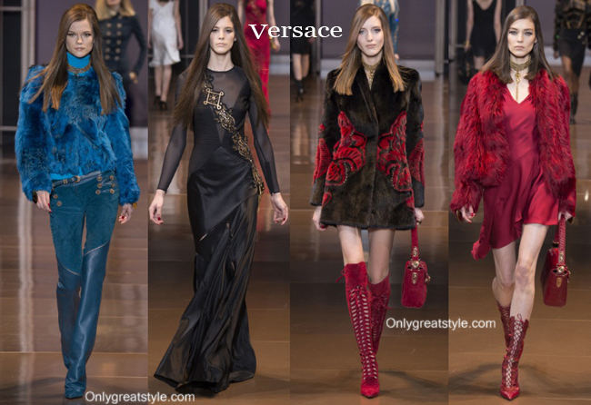 Fashion show dresses Versace fall winter 2014 2015