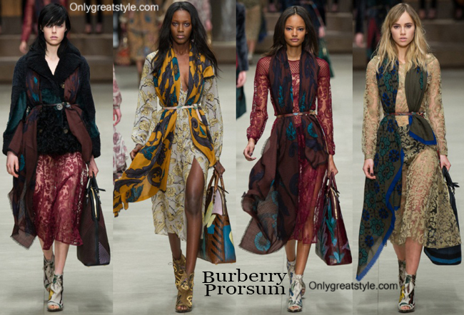 Fashion trends Burberry 2014 2015 womenswear