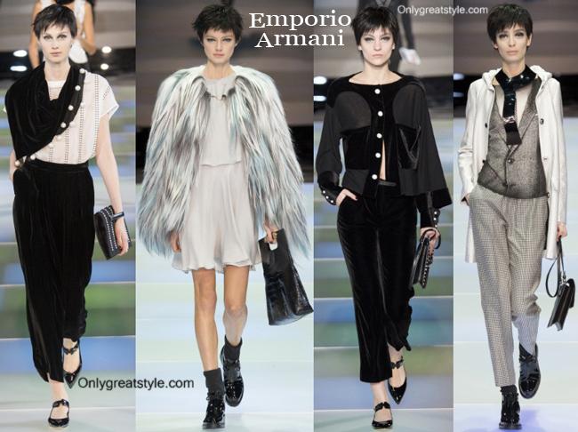 Fashion trends Emporio Armani 2014 2015 womenswear