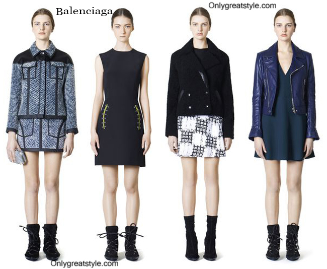 Look Balenciaga fall winter 2014 2015 womenswear