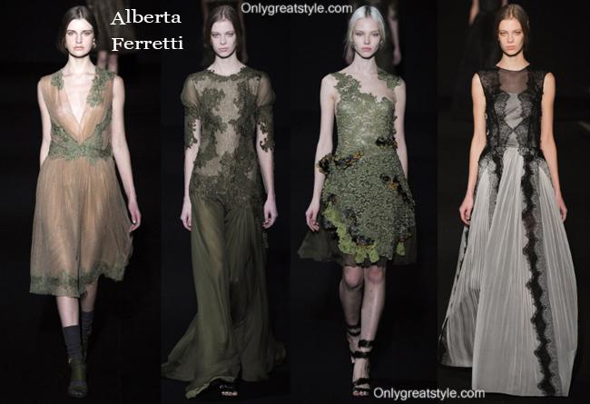 Alberta Ferretti fashion clothing fall winter 2014 2015