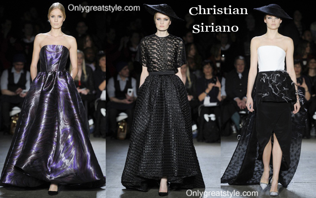 Christian Siriano fashion clothing fall winter 2014 2015