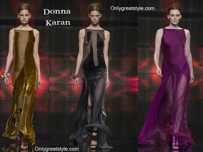 Donna Karan fashion clothing fall winter