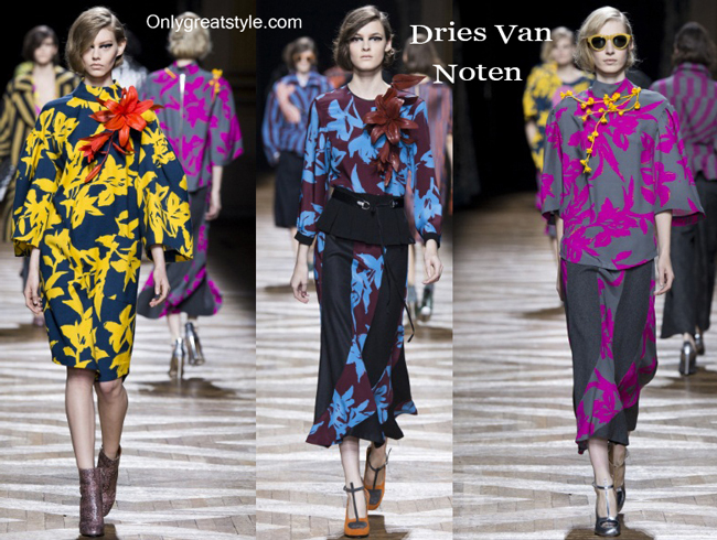 Dries Van Noten fashion clothing fall winter