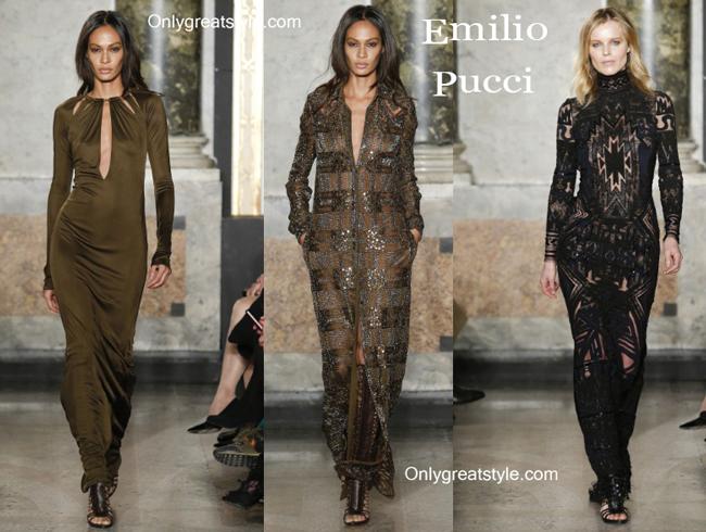 Emilio Pucci fashion clothing fall winter