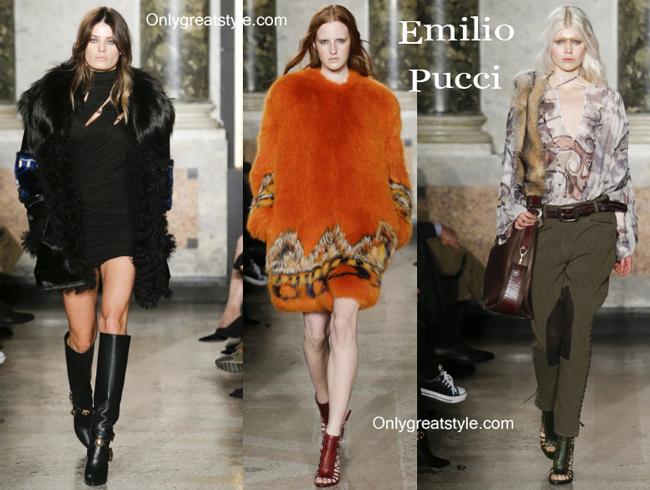 Emilio Pucci handbags and Emilio Pucci shoes