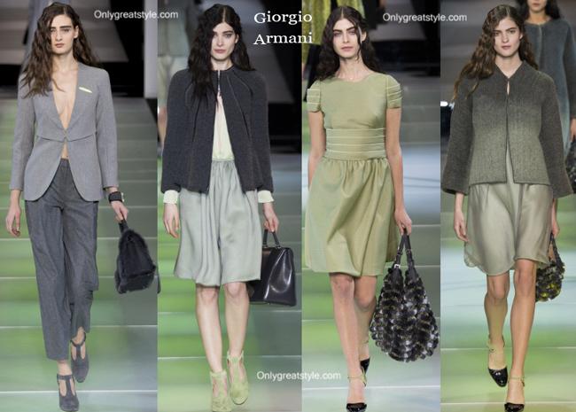 Giorgio Armani clothing accessories fall winter