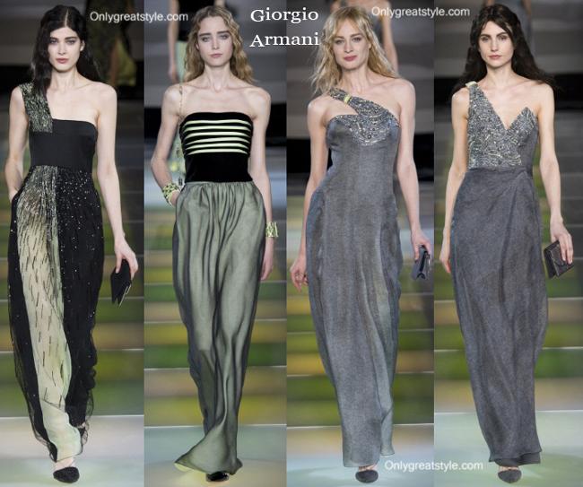 Giorgio Armani fashion clothing fall winter