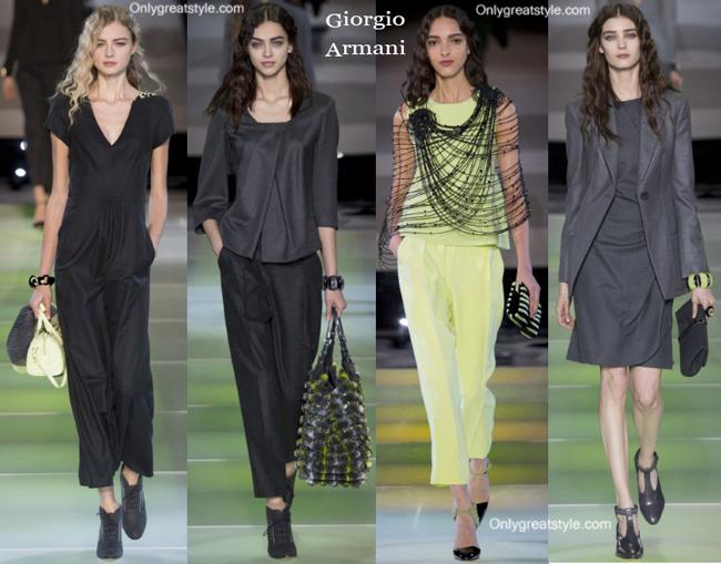 Giorgio Armani handbags and Giorgio Armani shoes
