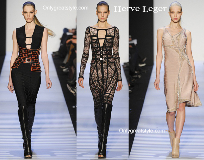 Herve Leger fashion clothing fall winter