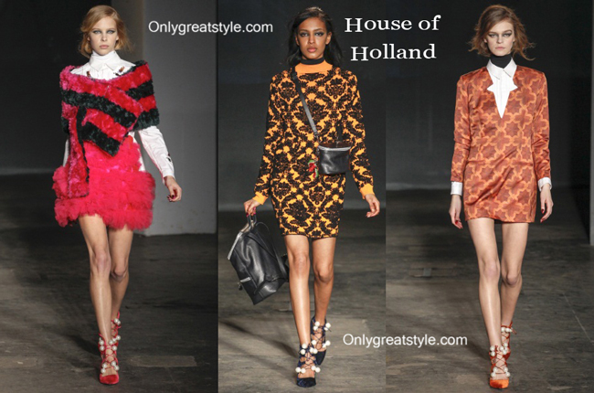 House of Holland clothing accessories fall winter