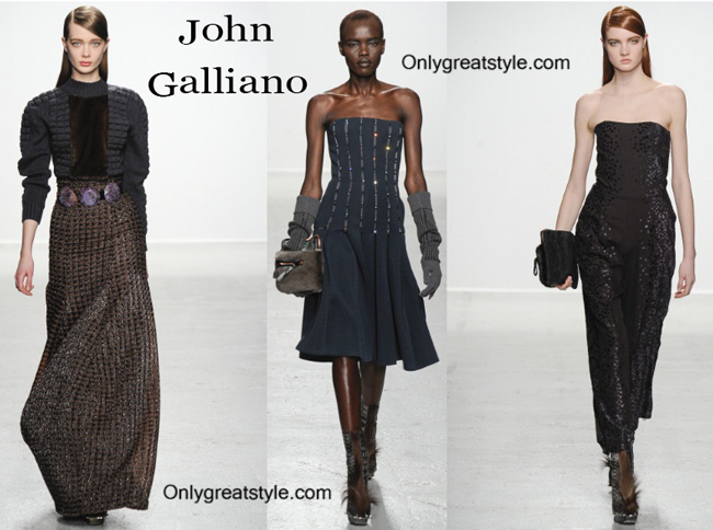 John Galliano clothing accessories fall winter