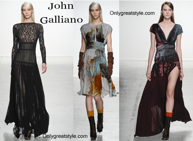 John Galliano fashion clothing fall winter