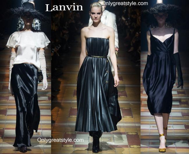 Lanvin fashion clothing fall winter
