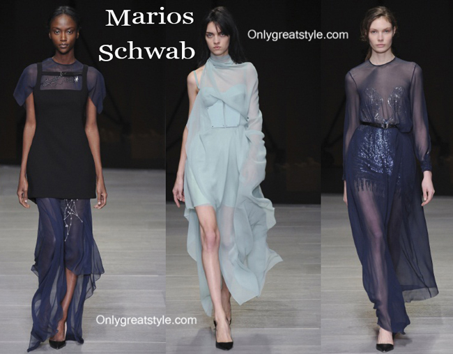Marios Schwab fashion clothing fall winter