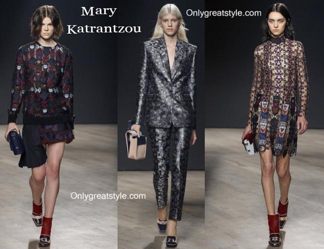 Mary Katrantzou clothing accessories fall winter