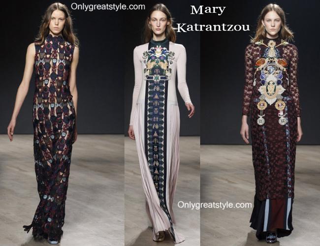 Mary Katrantzou fashion clothing fall winter