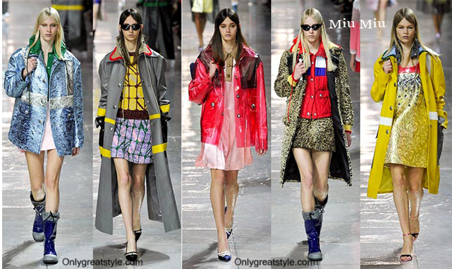 Miu Miu clothing accessories fall winter