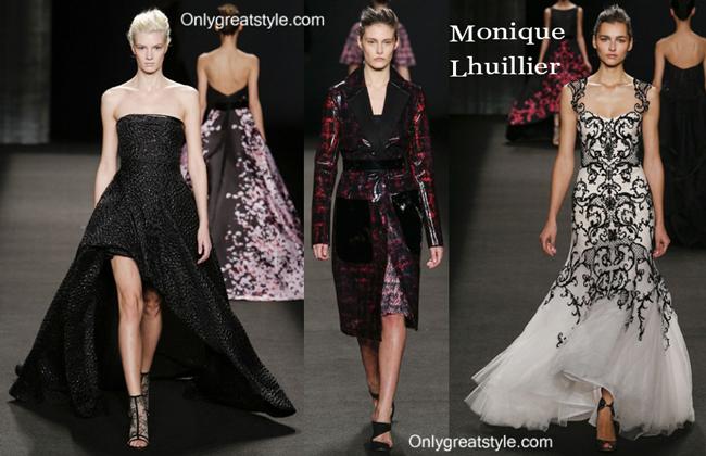 Monique Lhuillier dresses fall winter