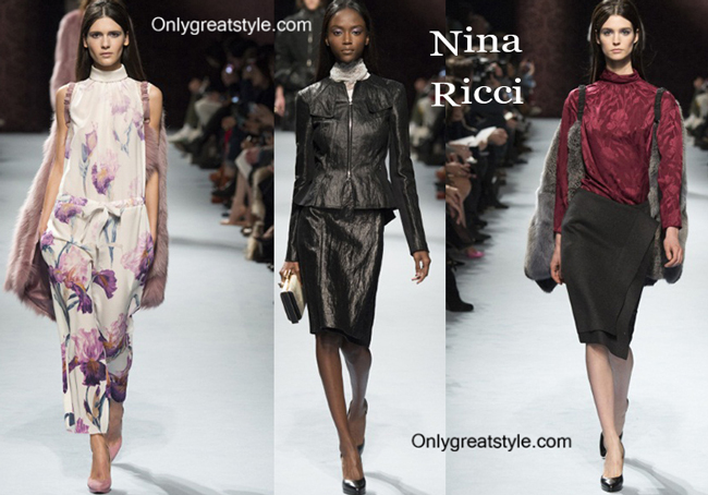 Nina Ricci clothing accessories fall winter