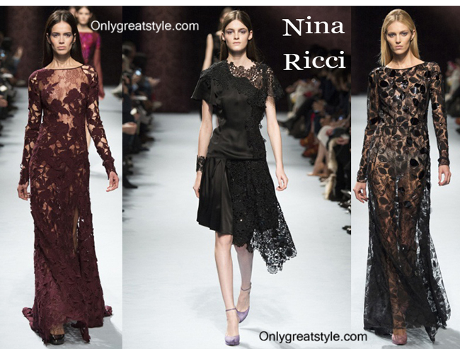 Nina Ricci fashion clothing fall winter