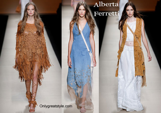 Alberta Ferretti clothing accessories spring summer 2015